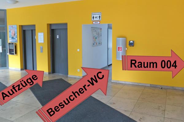 Soz. Rathaus barrierefreier Zugang Aufzüge