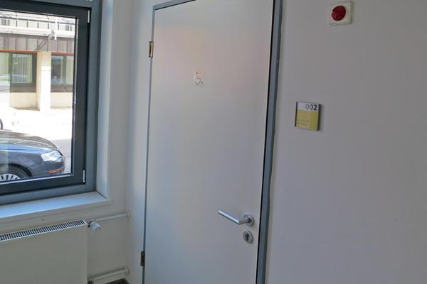 Soz.Rathaus Eingang WC