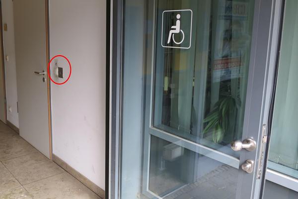 Soz.Rathaus Zugang Tür-Öffner innen