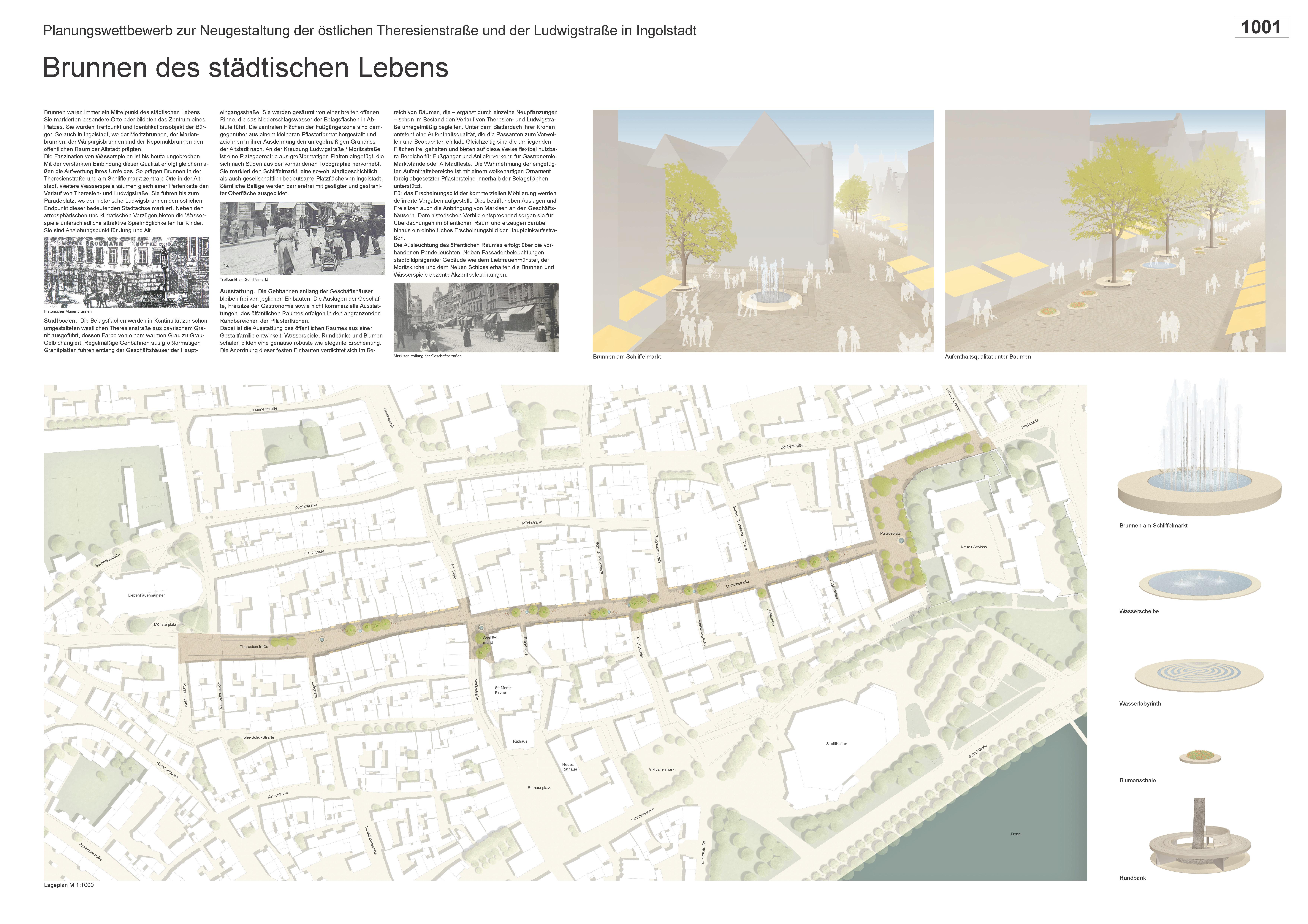 Preisgruppe 1. Stufe Planungswettbewerb Neugestaltung Fußgängerzone Arbeit 1 (1001)