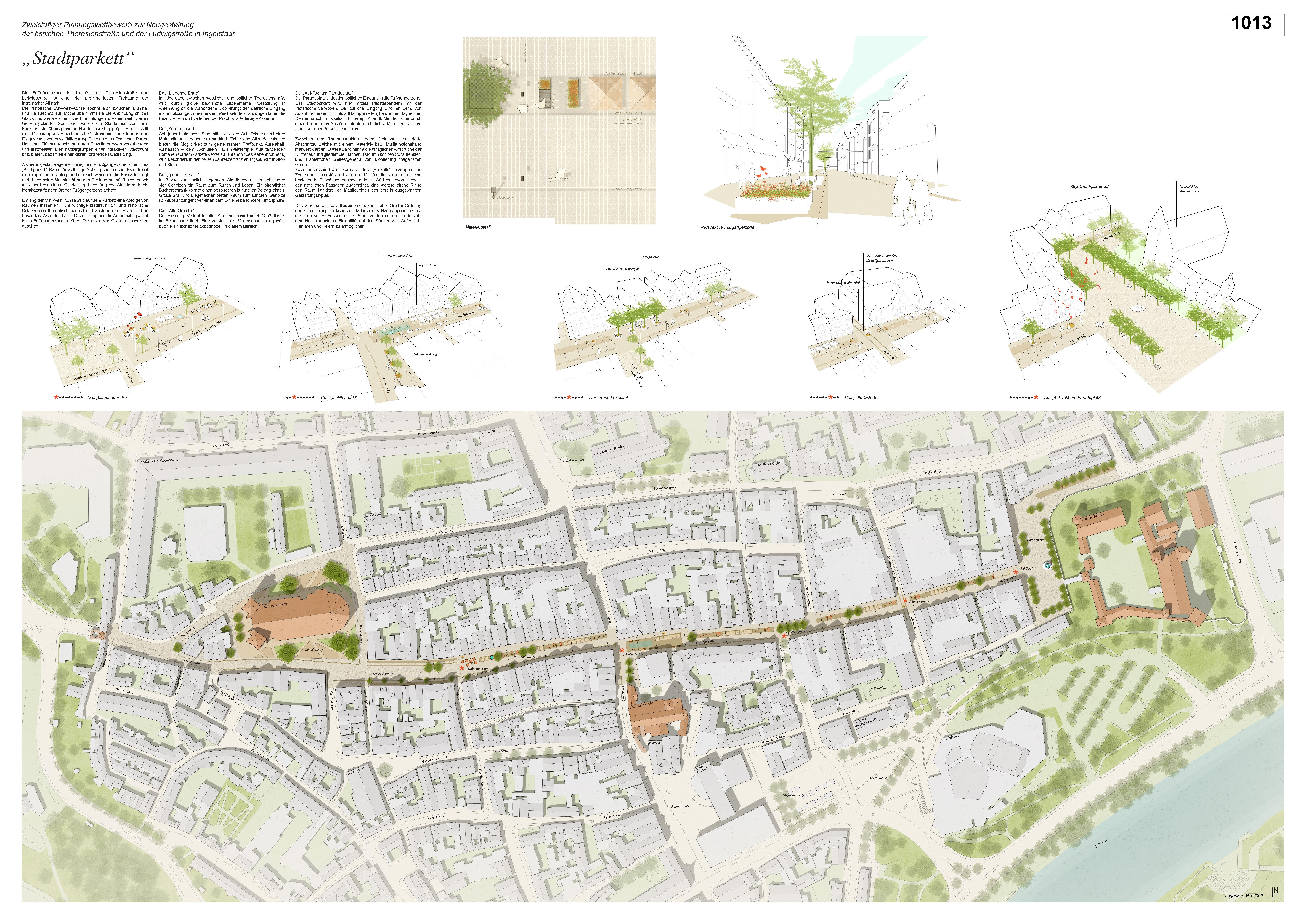 Preisgruppe 1. Stufe Planungswettbewerb Neugestaltung Fußgängerzone Arbeit 4 (1013)