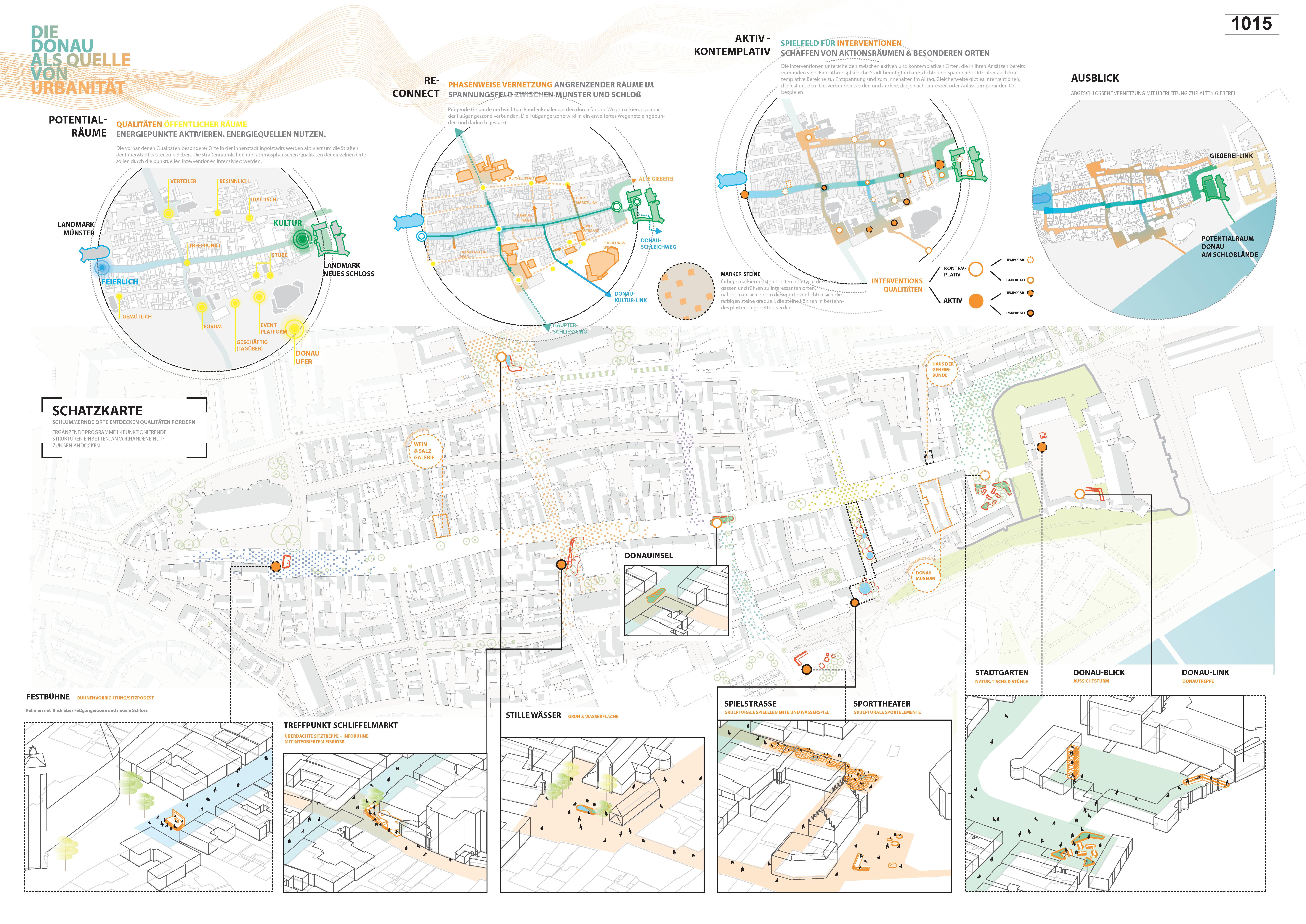 Preisgruppe 1. Stufe Planungswettbewerb Neugestaltung Fußgängerzone Arbeit 5 (1015)