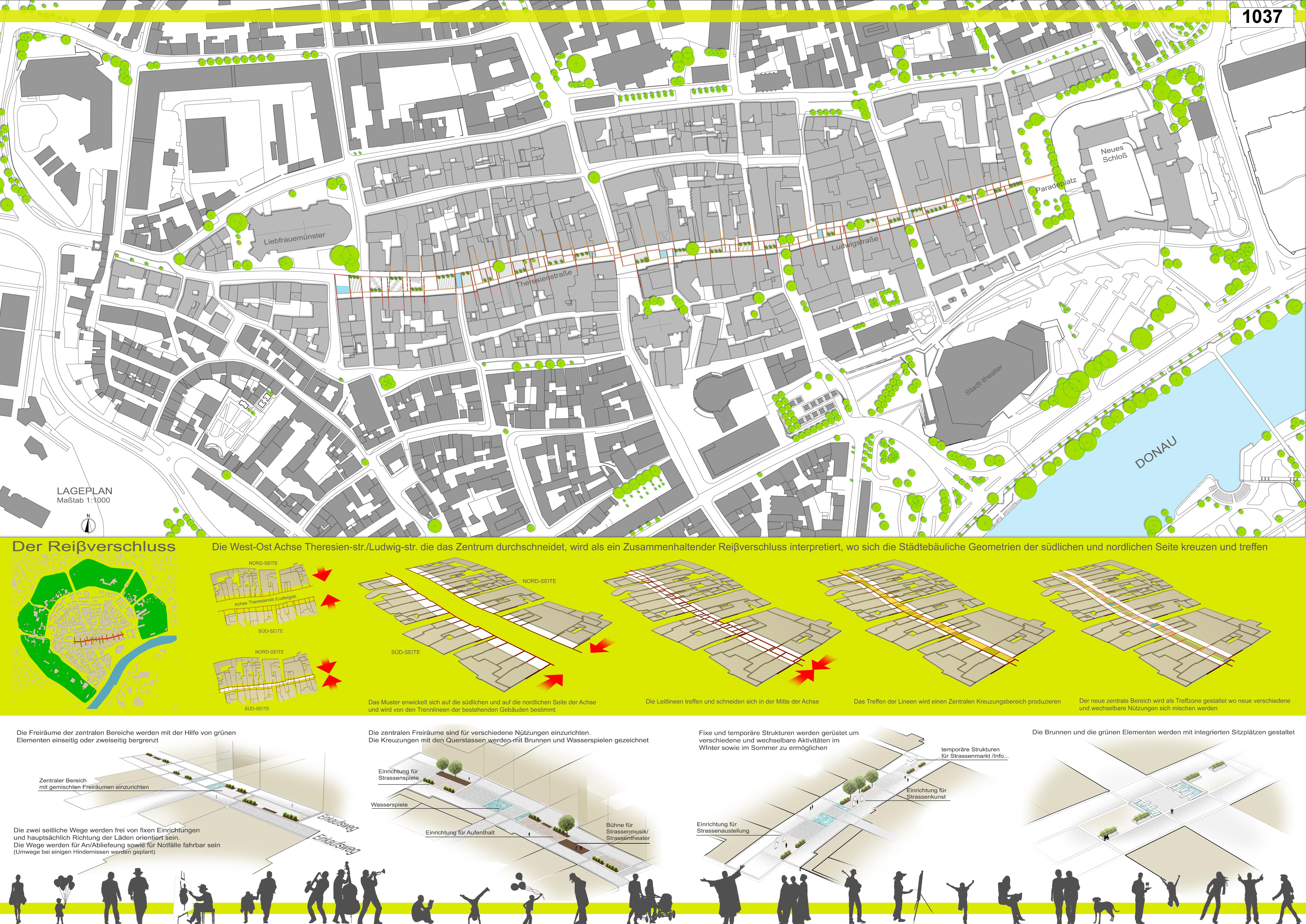 Preisgruppe 1. Stufe Planungswettbewerb Neugestaltung Fußgängerzone Arbeit 11 (1037)