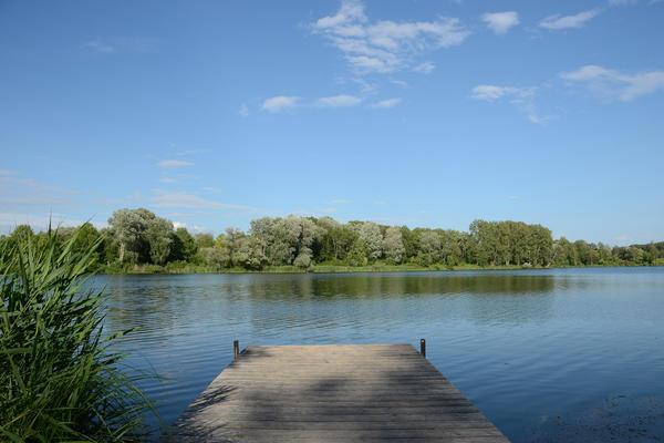 Badesteg am Baggersee
