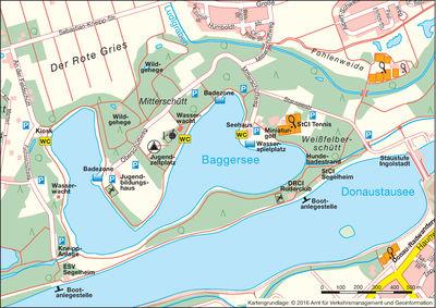 Stadtplanauszug Baggersee