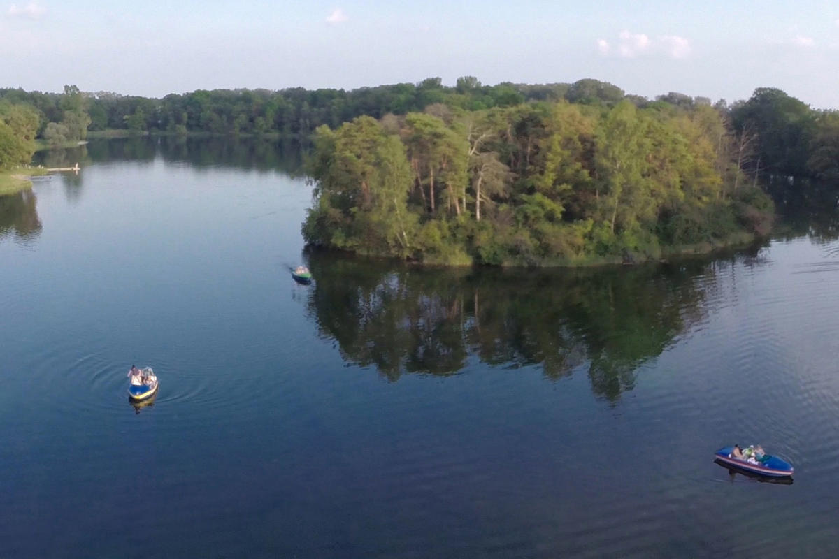 Foto Luftaufnahme Auwaldsee