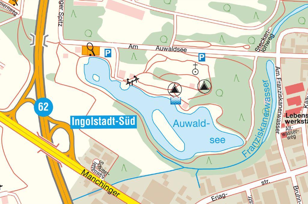Externer Link: Foto Stadtplan Auwaldsee
