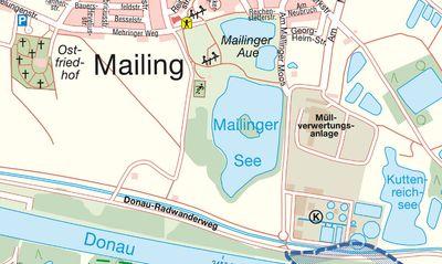 Foto Stadtplan Mailinger Aue