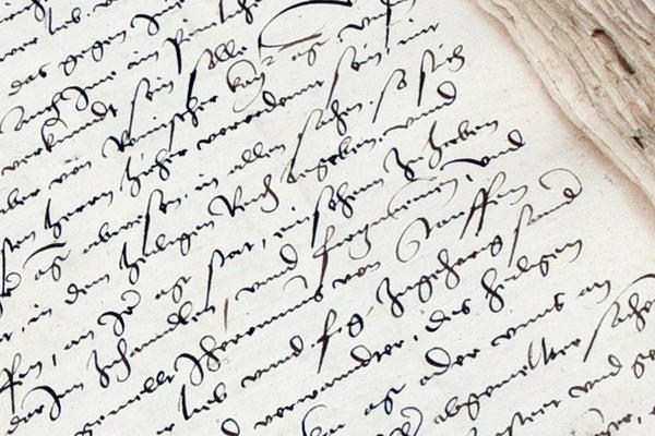 Alte Schrift auf Papier