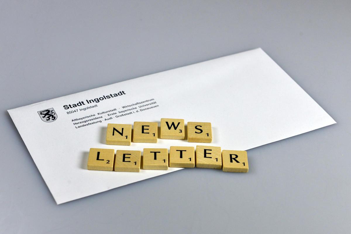 Newsletter aus Scrabble-Buchstaben