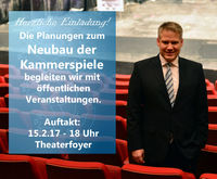Oberbürgermeister Dr. Lösel im Theater