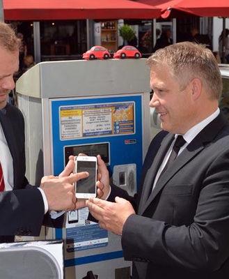 Parkschein bezahlen mit  dem Handy