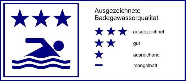 Gesundheit - Badegewässer - Legende - ausgezeichnete Badegewässerqualität