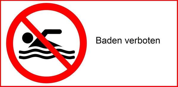 Gesundheit - Badegewässer - Baden verboten