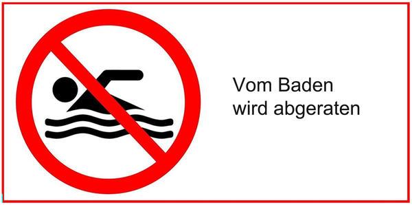 Gesundheit - Badegewässer - vom Baden wird abgeraten