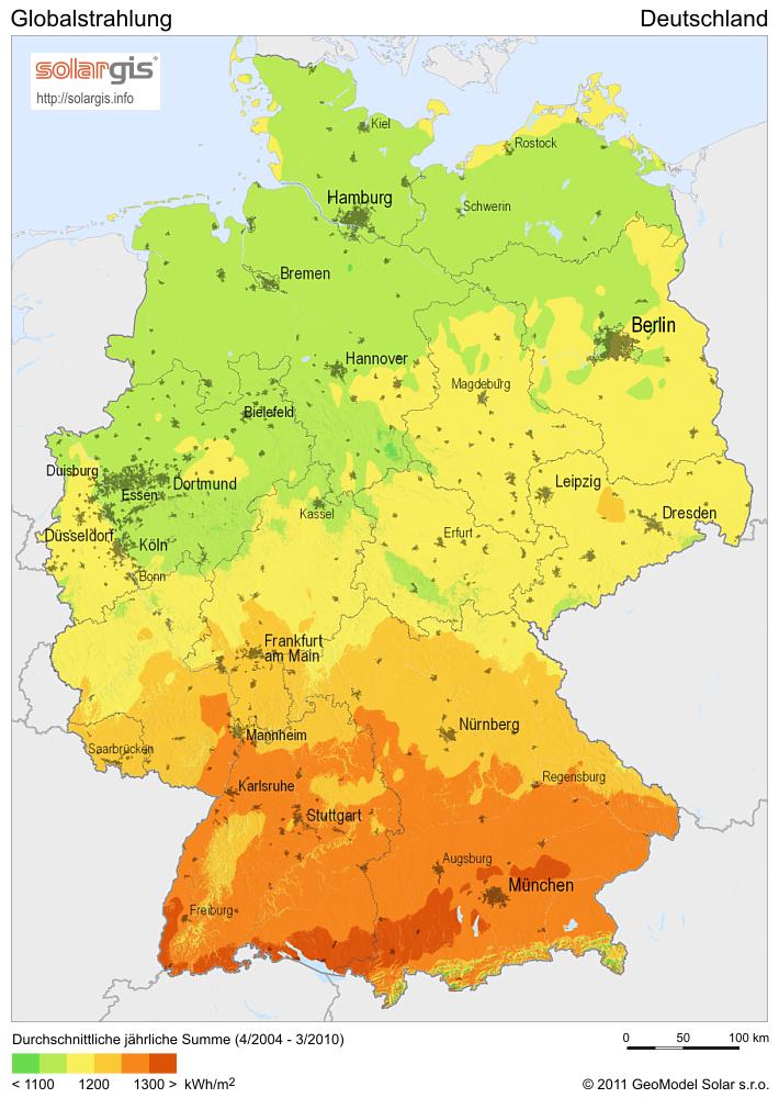 Energie - SolarGIS Solarmap Deutschland